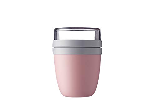 Mepal Lunchpot Ellipse Nordic pink – 500 ml praktischer Müslibecher, Joghurtbecher, to go Becher...