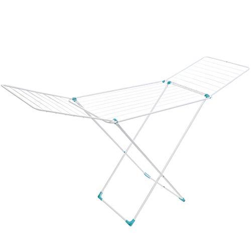 Nika Wäscheständer mit Flügeln, 20m Trockenlänge, Weiß, Solid standfester Standtrockner,...
