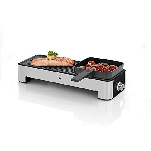 WMF Küchenminis Tischgrill für 2 mit Gemüsepfännchen, kleiner Elektrogrill mit kompakter...