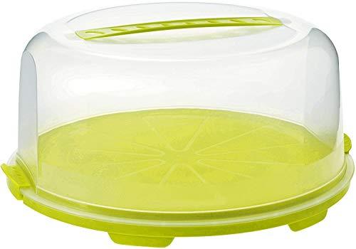 Rotho Fresh hohe Tortenglocke mit Haube und Tragegriff, Kunststoff (PP) BPA-frei, grün/transparent,...