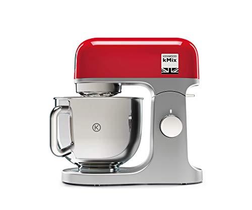 Kenwood kMix KMX750RD Küchenmaschine, 5 l Edelstahl Schüssel, Safe-Use-Sicherheitssystem,...