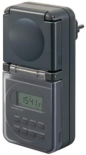Brennenstuhl Digitale Wochenzeitschaltuhr IP44, digitale Timer-Steckdose (Wochen-Zeitschaltuhr für...