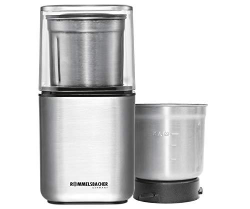ROMMELSBACHER Gewürz und Kaffee Mühle EGK 200 - 2 Edelstahlbehälter mit Schlagmesser &...