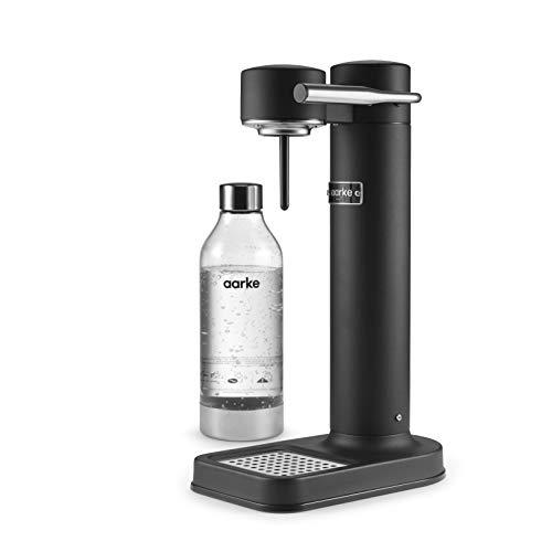Aarke Carbonator II Wassersprudler (Edelstahl Gehäuse, Soda Sprudelwasser, inkl. PET-Flasche,...