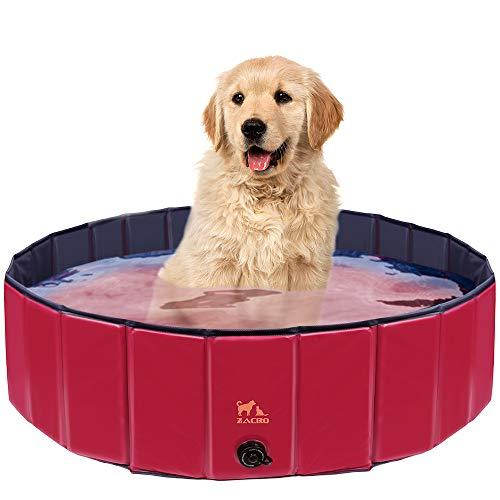 Zacro 120cm Hundepool Haustierpool Planschbecken Swimmingpool für die Haustier wie Hunde, Katzen,...