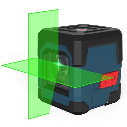 Kreuzlinienlaser, RockSeed Grüner Selbstnivellierend Linienlaser 15M±0,2 mm/m, Drehbar...