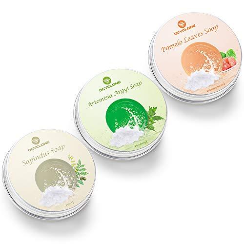 OCYCLONE Haar Shampoo Bar, Ingwer Seetang und Pfefferminz Kamille Haarseife zur Haarwuchsförderung,...