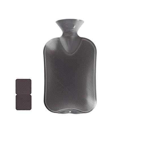 Fashy 35674.0 Wärmflasche 1er Pack ~ Thermoplast- Wärmeflasche Doppellamelle, geruchsneutral,...