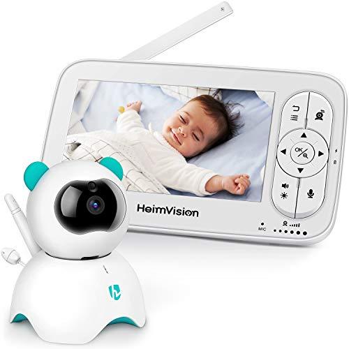 HeimVision Babyphone mit Kamera, 5 Zoll LCD Baby Monitor, HD 720P Video, Zwei Wege Audio, Temperatur...