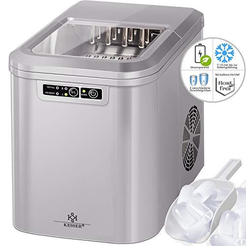 KESSER® Eiswürfelbereiter   Eiswürfelmaschine Edelstahl   Ice Maker   12 kg 24 h   Zubereitung in...