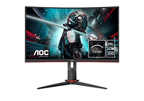 AOC Gaming CQ27G2U 80 cm (27 Zoll) Curved Monitor (QHD, HDMI, DisplayPort, Free-Sync, 1ms...