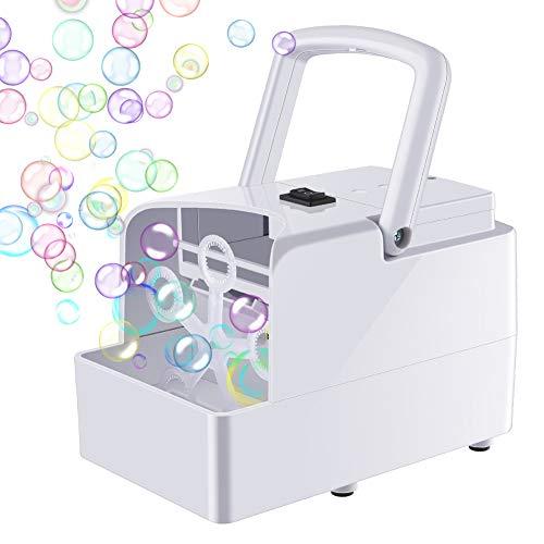 GEEDIAR Seifenblasenmaschine Tragbare, Leichte Automatischer Seifenblasen Maschine Angetrieben von...