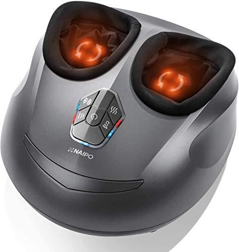 Naipo Fußmassagegerät mit Wärmefunktion,Shiatsu,Kneten,Luftkompression,3 optionale...