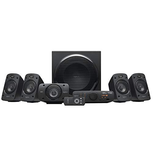 Logitech Z906 5.1 Sound System, Lautsprecher mit 1000 Watt Surround Sound, THX, Mehrere...