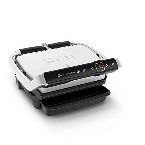Tefal GC750D OptiGrill Elite Kontaktgrill, digitales Display mit Schritt-für-Schritt Anleitungen...