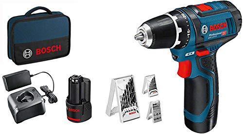 Bosch Professional 12V System Akkuschrauber GSR 12V-15 (inkl. 2x2,0 Akku + Ladegerät,...