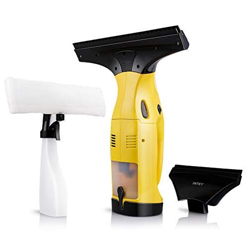 INTEY Fenstersauger, Fensterreiniger, Set Dry & Clean, Akku Fenstersauger, Elektrischer...