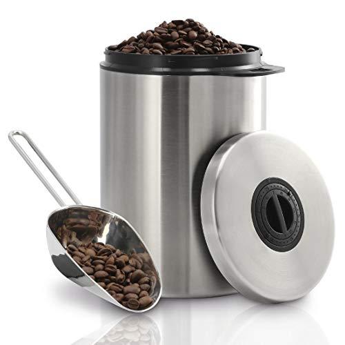 Xavax Kaffeedose für 1kg Kaffeebohnen (luftdichter Kaffeebohnen-Behälter mit Kaffee-Schaufel,...