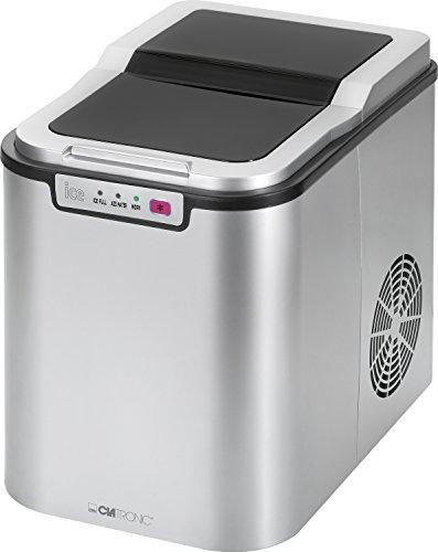 Clatronic EWB 3526 Eiswürfelbereiter für ca. 10–15 kg Eiswürfel in 24 Std, LED-Anzeige, 3...