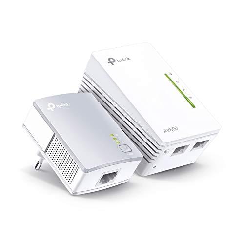 TP-Link WLAN Powerline Adapter Set TL-WPA4220 KIT(WLAN 300Mbit/s, AV600 Powerline,Wifi Clone, 3...
