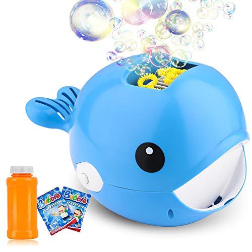 ARANEE Seifenblasenmaschine – Seifenblasen Kinder Automatischer Seifenblasenmacher mit 120ml...