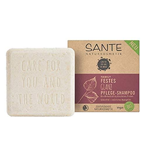 SANTE Naturkosmetik Festes Shampoo für glanzloses und normales Haar, Vegane Formel mit...