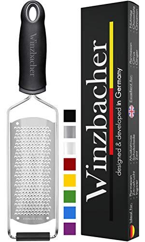 Winzbacher® - Premium Zester Reibe I Parmesanreibe, Zitronenreibe, Muskatnuss Reibe, Ingwerreibe...