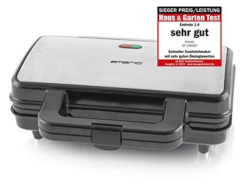 Emerio ST-109562, XXL Sandwichtoaster für alle Toastgrößen geeignet, Edelstahl, große...