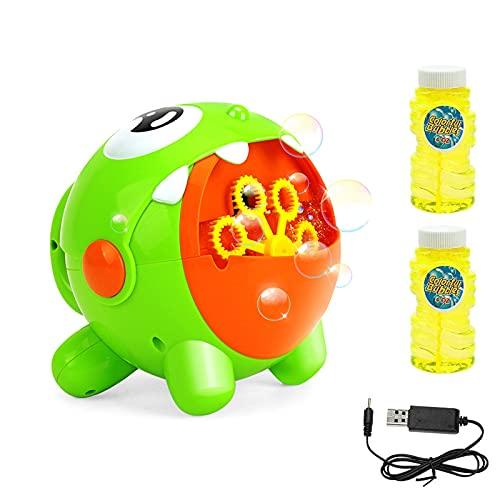 EXTSUD Seifenblasenmaschine, Automatische Bubble Maschine Blasenmacher mit 2 Flüssigkeit Baby...