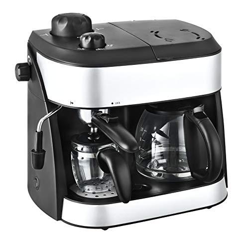 Team Kalorik 2-in-1 Kaffee- und Espressomaschine, Inklusive 2 Glaskannen (1,25 l + 0,24 l), 1800 W,...