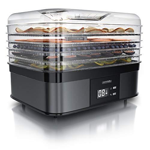 Arendo - Dörrautomat mit Temperaturregler 350 Watt - Edelstahl Dörrgerät für Lebensmittel...