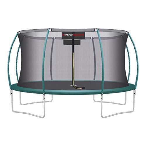 Ultrasport Unisex– Erwachsene 430 Gartentrampolin mit 430 cm Durchmesser, belastbar bis 150 kg,...