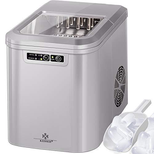 KESSER® Eiswürfelbereiter | Eiswürfelmaschine Edelstahl | Ice Maker | 12 kg 24 h | Zubereitung in...