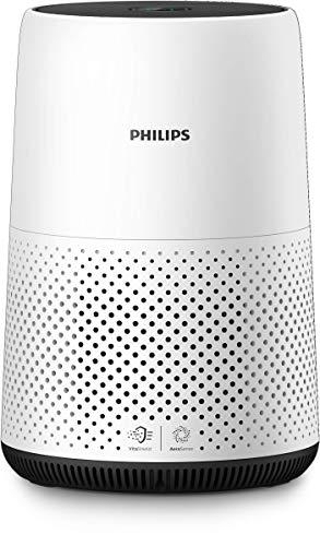 Philips AC0820/10 Luftreiniger Kompakt (für Allergiker, bis zu 49M², Cadr 190M³/H, Aerasense...