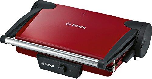Bosch TFB4402V Kontaktgrill (1800 W, 3 Grillpositionen, stufenlos regulierbarer Thermostat), rot /...