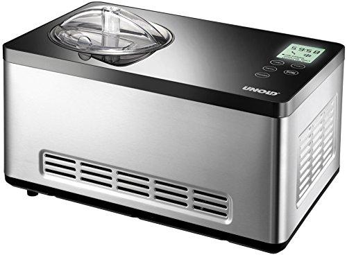 UNOLD 48845 Eismaschine Gusto mit selbstkühlendem Kompressor, 2 L Volumen, elegantes...