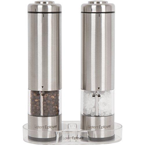 Latent Epicure - Batteriebetriebene Salz- und Pfeffermühle (2er-Set)