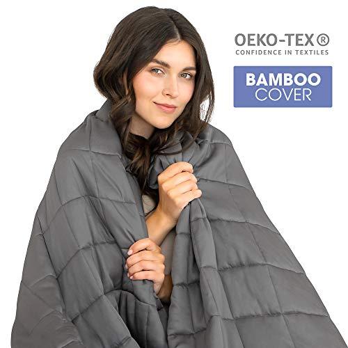 Dreamzie - Gewichtsdecke 8kg - 140x200cm geeignet für Bett 140x200-100% Bambusfaserbezug Oeko-TEX...
