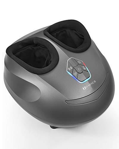 MARNUR Fußmassagegerät mit Wärmefunktion Elektrisches Shiatsu Fussmassage Kneten Luftkompression...