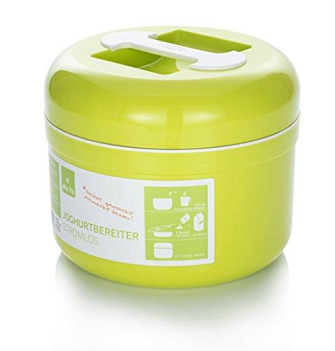 My.Yo - Joghurtbereiter ohne Strom | Farbe Limette | Inkl. 2 Beutel Bio-Fermente