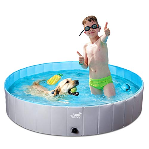 Toozey Hundepool für Große & Kleine Hunde, 80cm / 120cm / 160cm Faltbare Hunde Pools,...