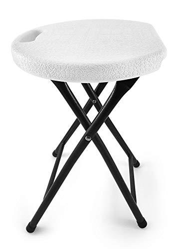 Besonders stabiler, faltbarer Hocker - Trägt bis zu 200kg - Mit speziellem ergonomischen Sitzdesign...