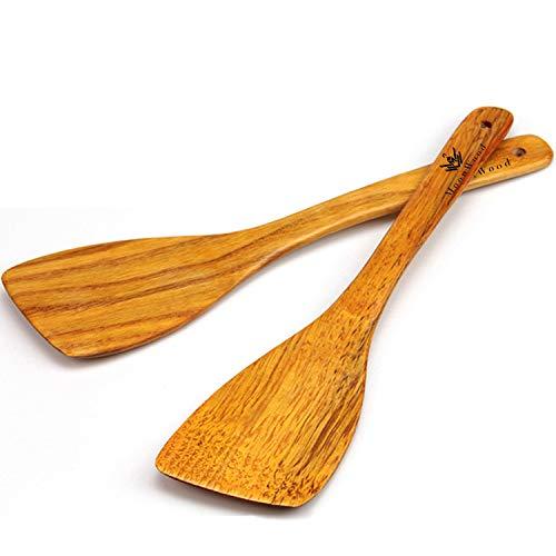 MoonWood Holzspatel Set zum Kochen - Hartholz Ideal für Pfanne, Kochutensilien und Wok –...