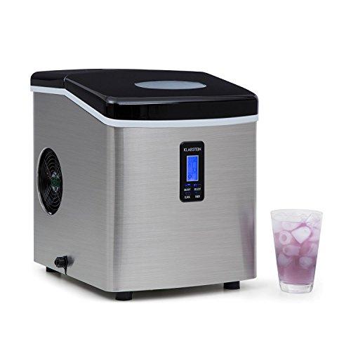 Klarstein Mr. Silver-Frost - Eismaschine, Eiswürfelmaschine, Eiswürfelbereiter, 15 kg/Tag, 150...