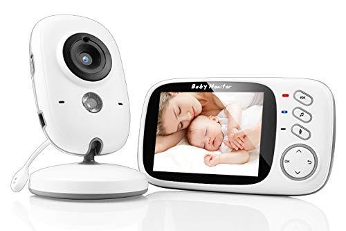 SYOSIN Babyphone mit Kamera, Video Überwachung Baby Monitor Wireless 3.2' TFT LCD Digital dual...