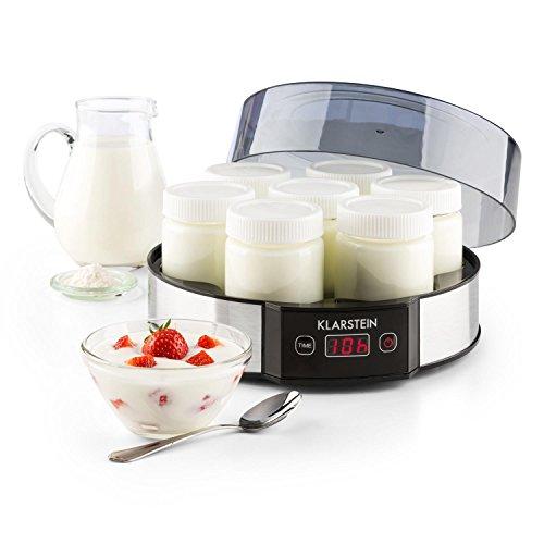 Klarstein Milchstraße - Joghurtbereiter, Joghurt-Maker, 7 x 190 ml, Geschmacksecht, Glas, Timer,...