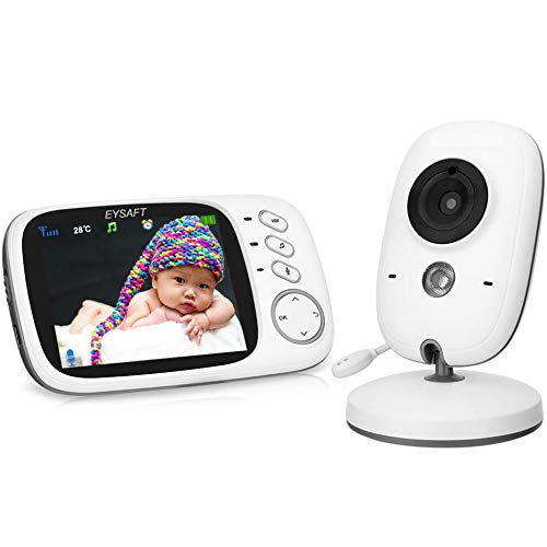 Babyphone 3.2 Zoll Babyphone mit Kamera Videoüberwachung Smart Baby Monitor TFT LCD Digital dual...