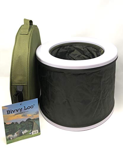 Bivvy Loo Tragbare Camping WC -Campingtoilette - Festival WC - Angeln Toilette - Outdoor Camping WC...