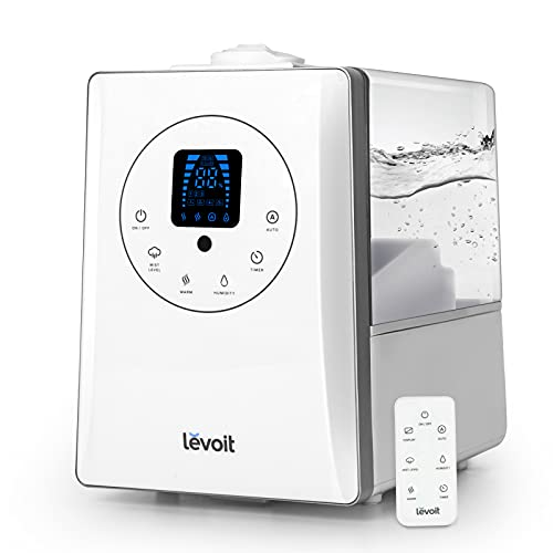 LEVOIT Ultraschall Luftbefeuchter 6L, Warmer/Kühler Nebel mit Feuchtesensor, Fernbedienung und...