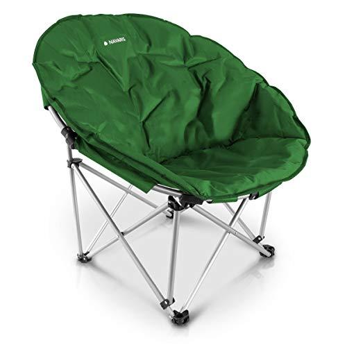 Navaris Moon Chair Faltsessel rund - Camping Stuhl Outdoor Klappstuhl - Campingstuhl mit Tasche -...